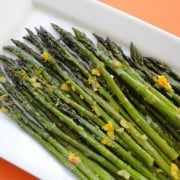roasted asparagus with orange vinaigrette