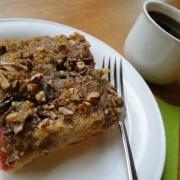 Loree's Rhubarb Nut Coffee Cake