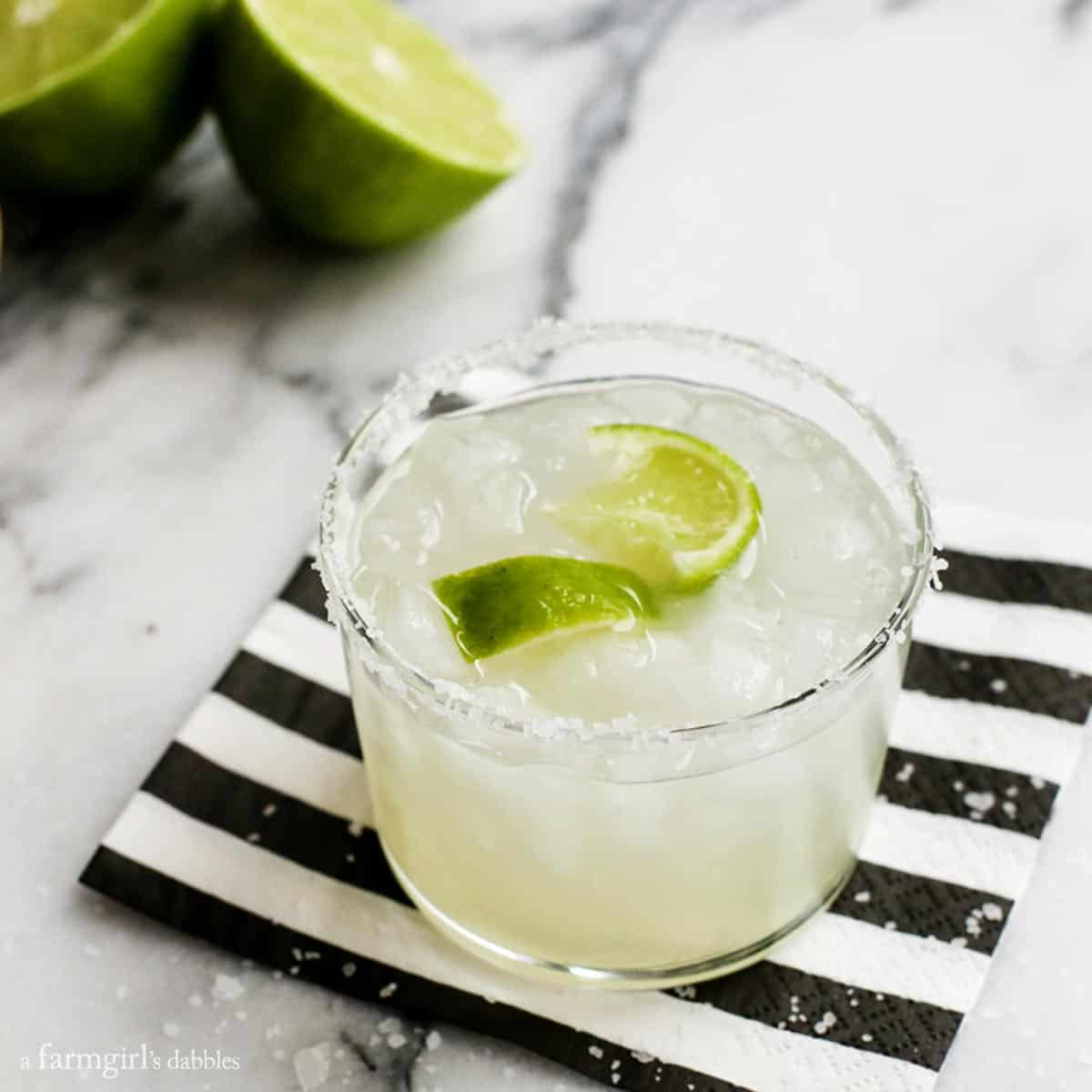 Traditional Margaritas recipe from afarmgirlsdabbles.com