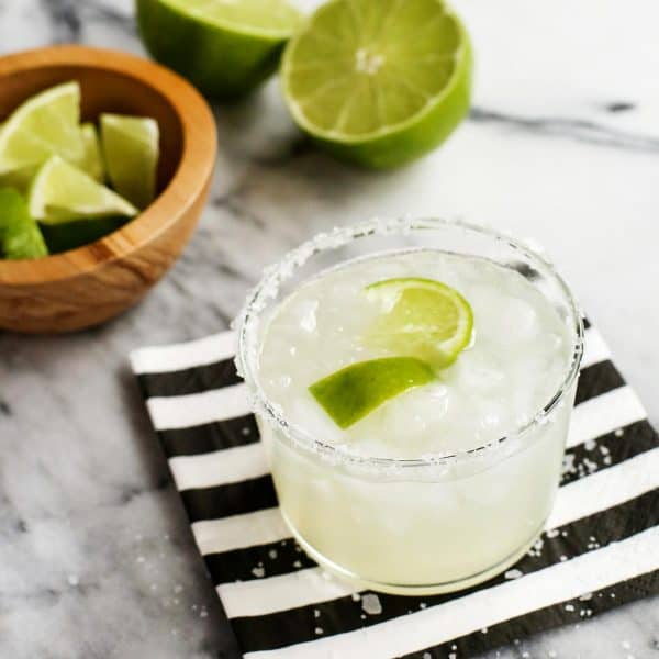 classic margarita with fresh limes