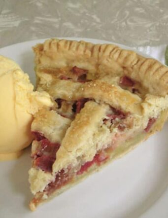 pie and a scoop of ice cream