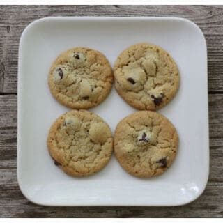 These chocolate chip cookies are soft, chewy, and genuinely perfection on a plate!