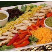 Grilled Mexican Chicken Salad with Cumin Lime Vinaigrette