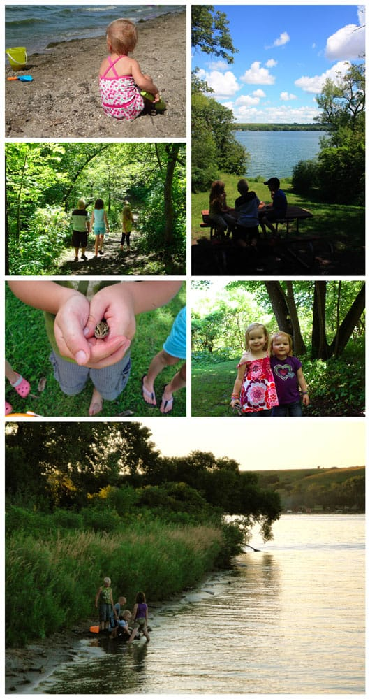 collage of camping photos