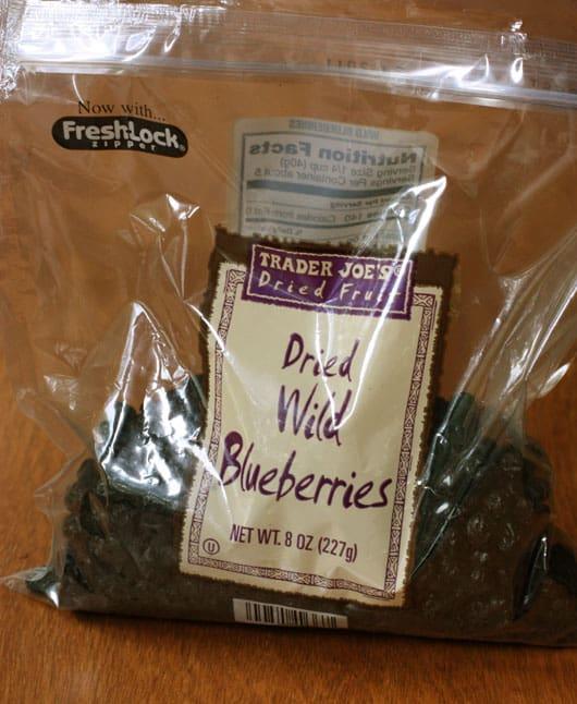 dried wild blueberries
