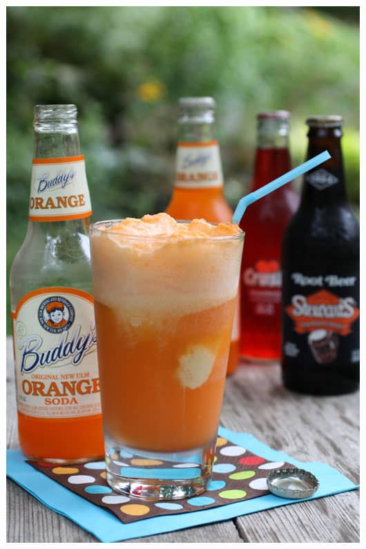 an orange soda float