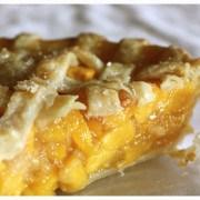 peach pie sliced