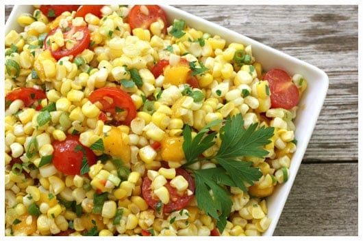 Sweet Corn Salad - Fresh from the Farmers' Market • a farmgirl's ...
