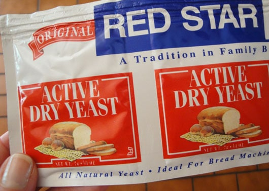 Red Star active dry yeast packets