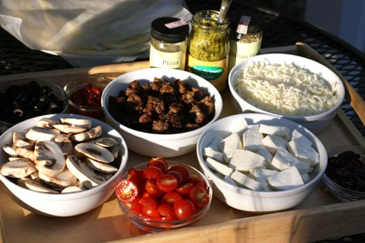 toppings for grilled pizza