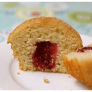 cinnamon doughnut muffins, raspberry blackberry jam