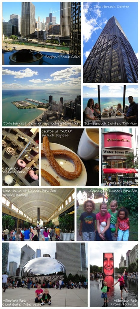 collage of photos from chicago