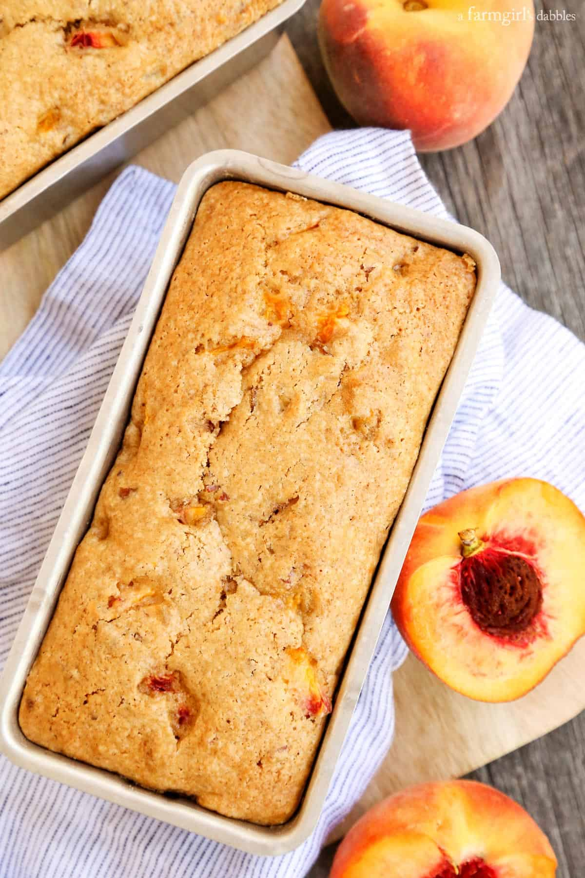 Peach Bread from afarmgirlsdabbles.com