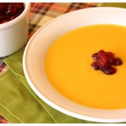 Savory Squash Soup with Cranberry Relish