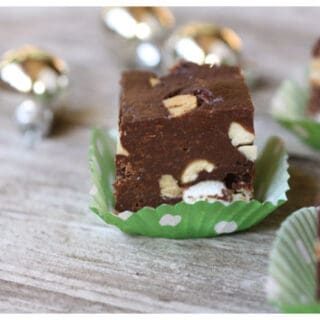 peanut, marshmallow, and chocolate fudge pieces
