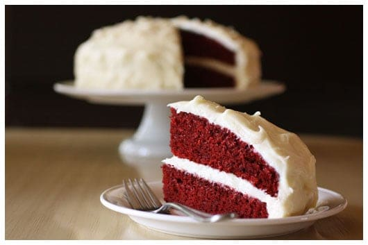 Red Velvet Cake with Cream Cheese Frosting..