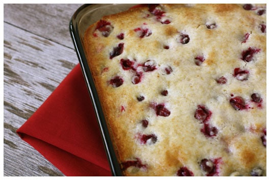 Cranberry Cake with Butter Cream Sauce - afarmgirlsdabbles.com #cranberry #buttercreamsauce