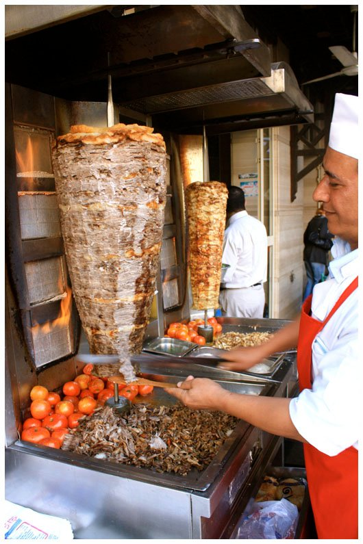 shawarma stand in egypt