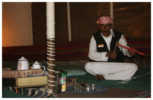Bedouin playing rababa