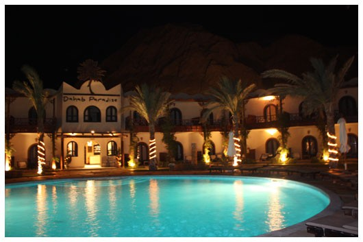 Dahab Paradise at night