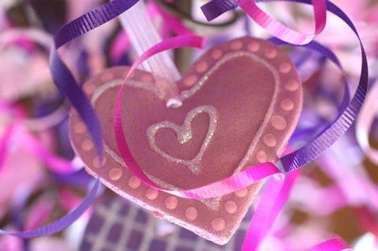 salt dough valentine ornaments