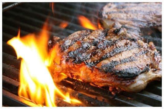 Sugar Grilled Steaks - afarmgirlsdabbles.com #steak #grilling