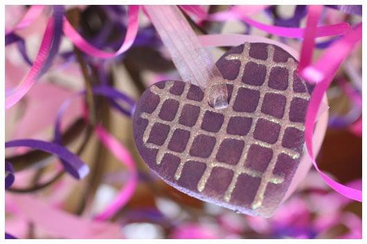 a purple ornament