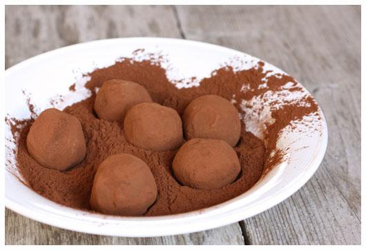 truffles coated in cocoa powder