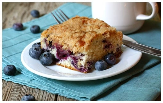 Mom's Blueberry Tea Cake {and blueberry picking!} • a ...