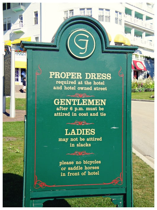 dress code for the grand hotel