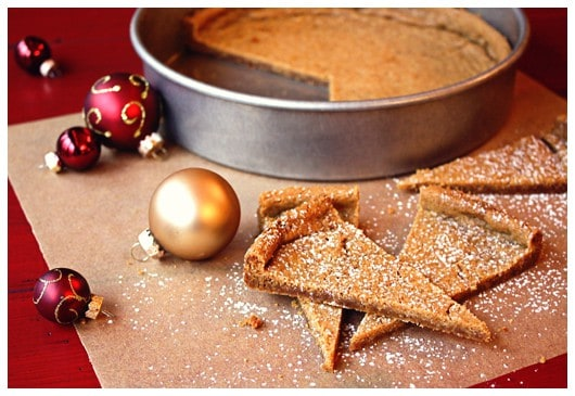 slices of christmas shortbread