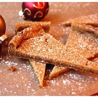 pieces of shortbread with christmas ornaments