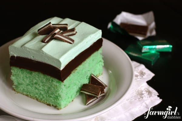 Grasshopper Cake With Andes Mints