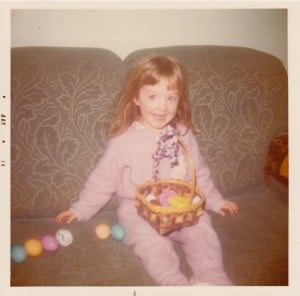 Brenda at Easter in 1974