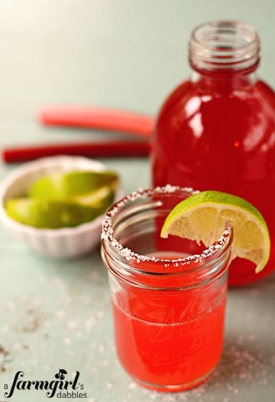 "Rhubarb Margarita {aka ""The Farmgirl Margarita""} • a farmgirl's..."