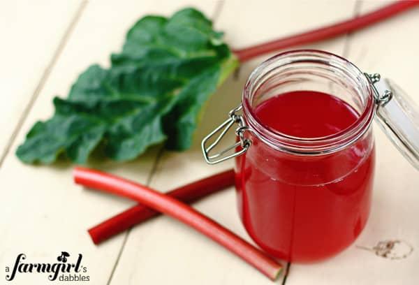 Ruby Rhubarb Syrup • a farmgirl's dabbles
