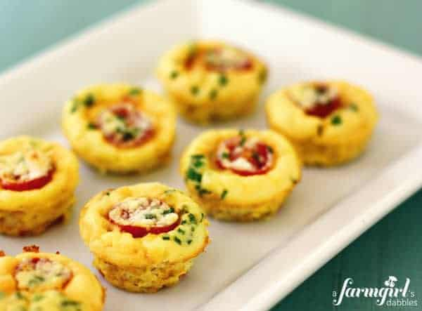 mini frittatas with tomatoes