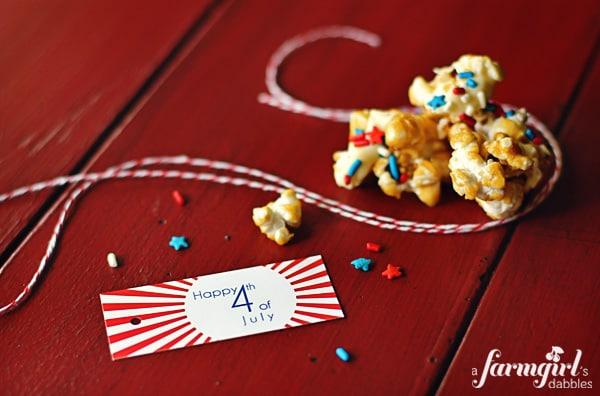 caramel corn with star sprinkles
