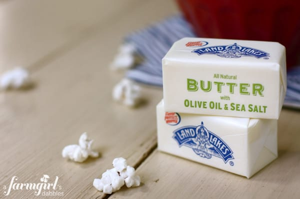 Land O Lakes olive oil and sea salt Butter
