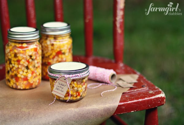 corn relish in gift wrap