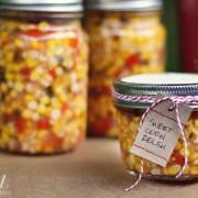 sweet corn refrigerator relish - a farmgirl's dabbles
