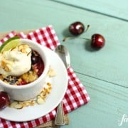 island cherry crumbles - a farmgirl's dabbles
