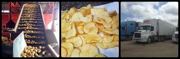 making potato chips
