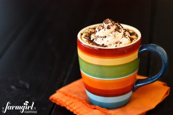 Pumpkin Spice Latte {homemade recipe for 1 week of yummy drinks!} - afarmgirlsdabbles.com #pumpkin #latte #pumpkinspicelatte @farmgirlsdabble