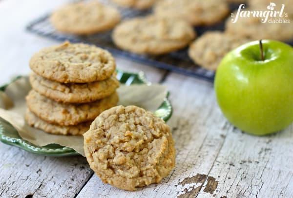 Apple Peanut Butter Cookies Recipe — Dishmaps