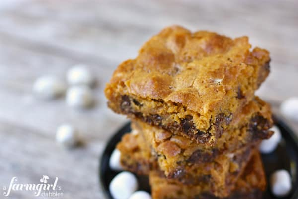 Butterscotch Bars with Chocolate and Disappearing Marshmallows • a ...