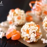marshmallow popcorn balls, a fun Halloween treat - from a farmgirl's dabbles