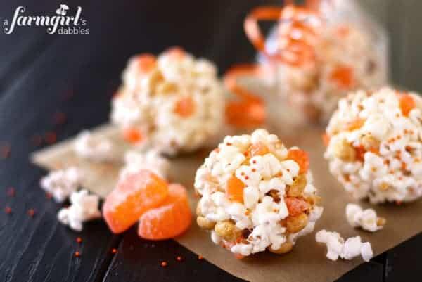 Marshmallow Popcorn Balls - afarmgirlsdabbles.com
