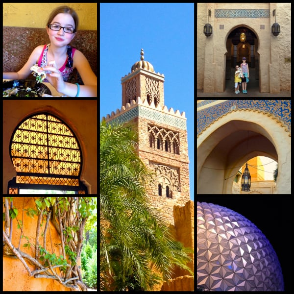 a collage of photos from epcot