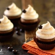 pumpkin cupcakes with frosting